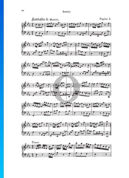 Fantasie, Douzaine III Nr.6: Gratioso, TWV 33:30 Musik-Noten