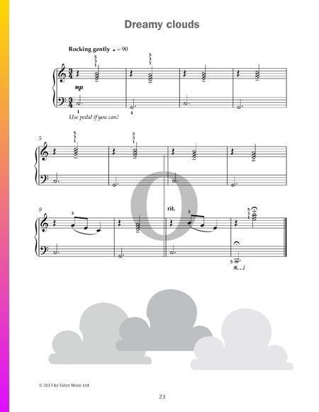 Dreamy clouds Sheet Music
