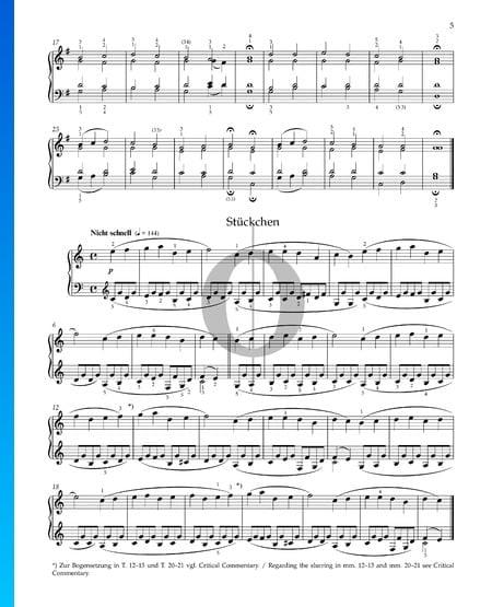 Pequeña Pieza, Op. 68 n.º 5 Partitura