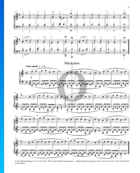 Stückchen, Op. 68 Nr. 5 Musik-Noten