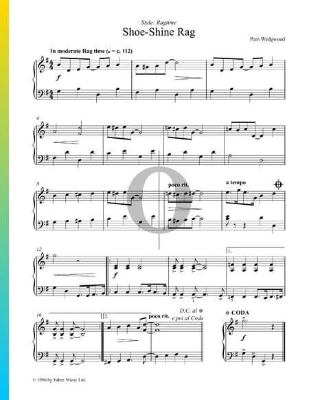 Shoe-Shine Rag Sheet Music