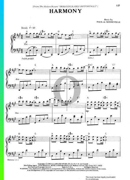 Harmony Sheet Music