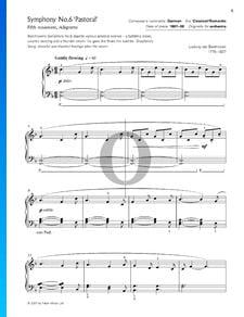 Sinfonía n.º 6 en fa mayor, Op. 68 (Pastoral): 5. Allegretto