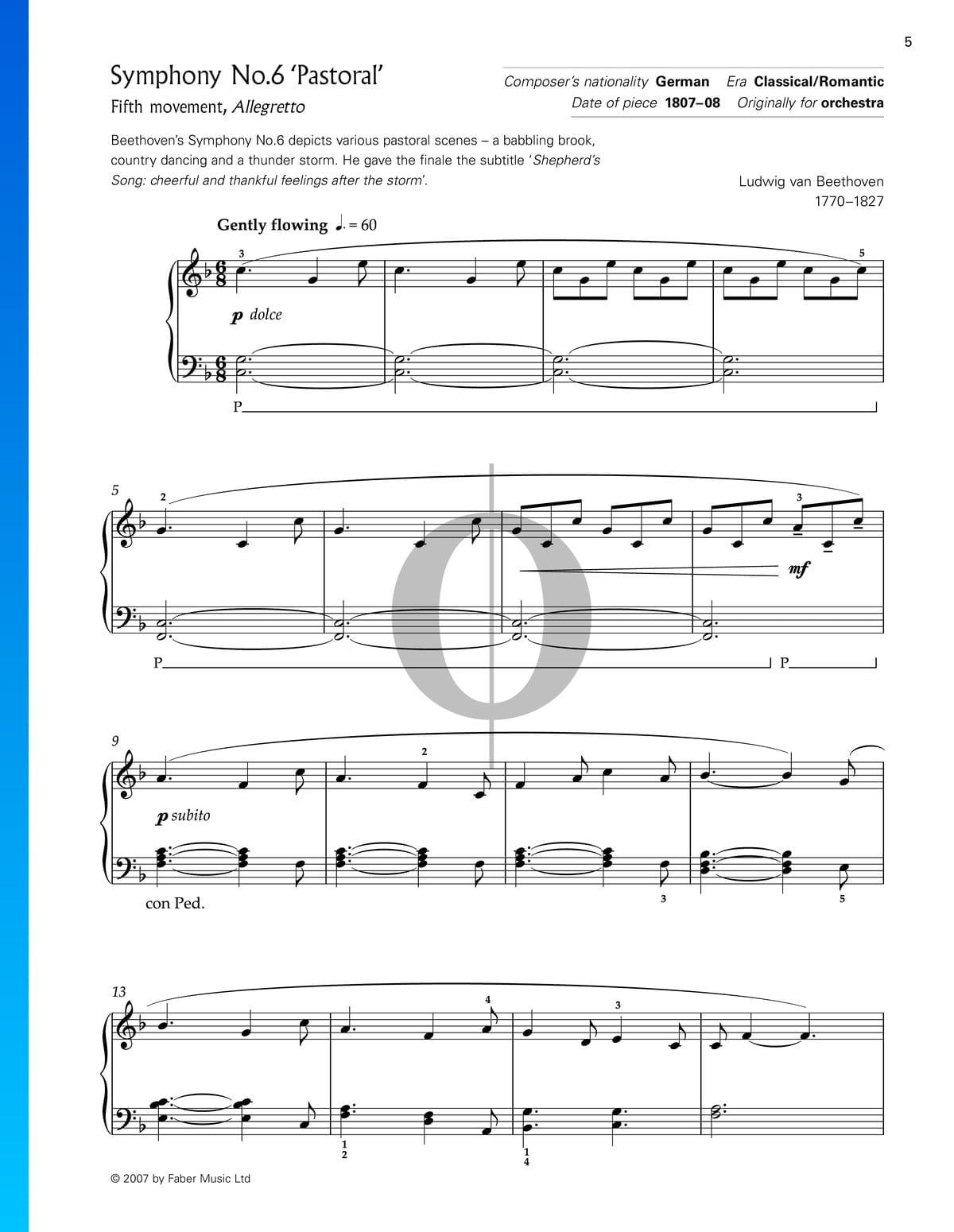 ▷ Symphony No  6 in F Major, Op  68 (Pastorale): 5