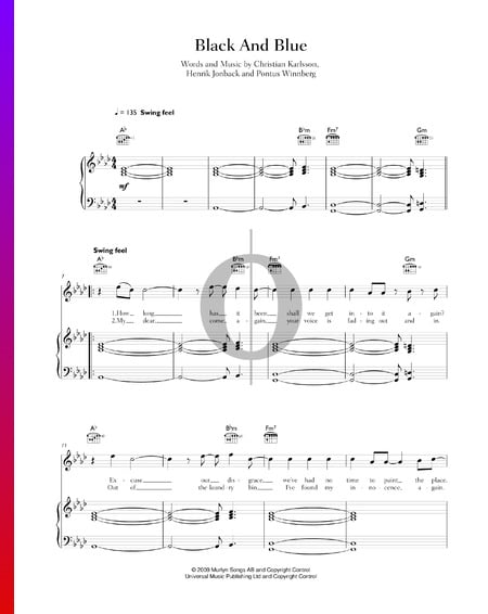 Black & Blue Sheet Music