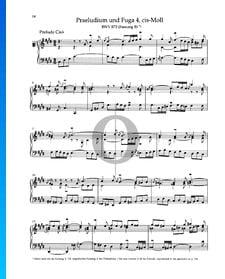 Prelude C-sharp Minor, BWV 873