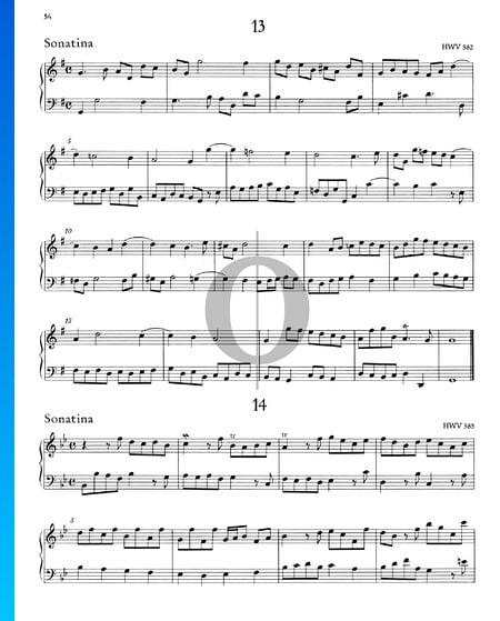 Sonatina B-Dur, HWV 585 Musik-Noten