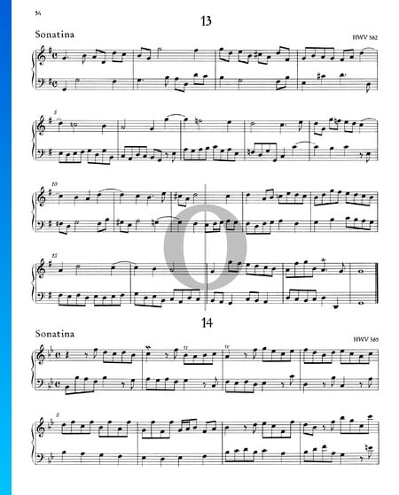Sonatina B-flat Major, HWV 585 Sheet Music