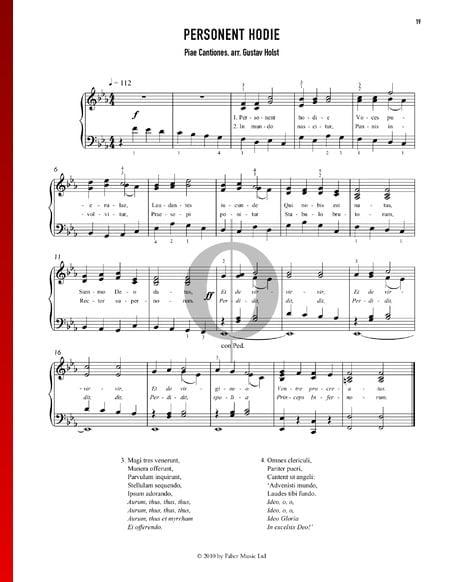 Personent Hodie Musik-Noten