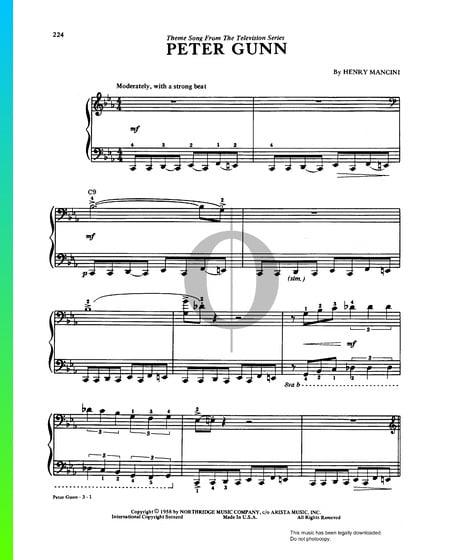 Peter Gunn Musik-Noten