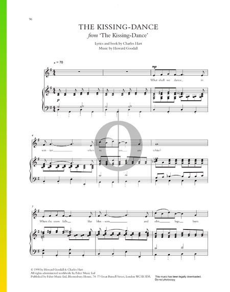 The Kissing-Dance Musik-Noten