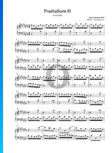 Prélude 3 Do dièse Majeur, BWV 848