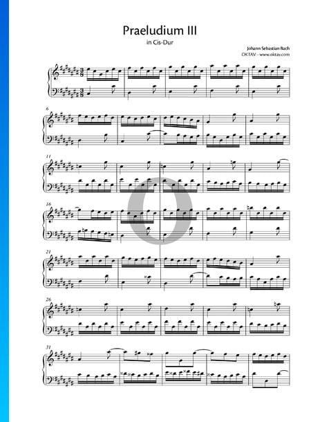 Prelude 3 C-sharp Major, BWV 848 Sheet Music
