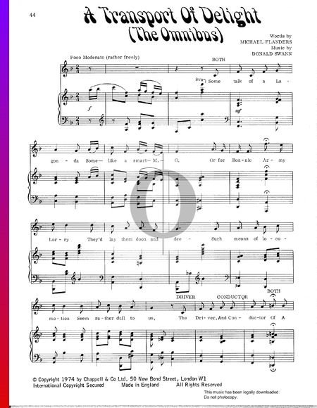 A Transport Of Delight (The Omnibus) Sheet Music