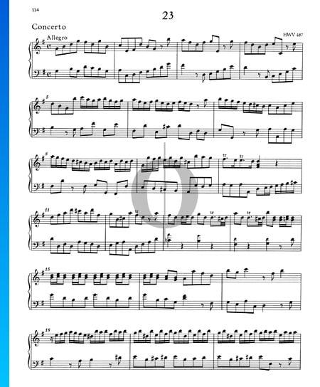 Concerto en Sol Majeur, HWV 487: 1. Allegro Partition
