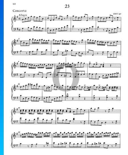 Concerto G Major, HWV 487: 1. Allegro Sheet Music