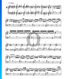 Concierto en sol mayor, BWV 980: 2. Largo