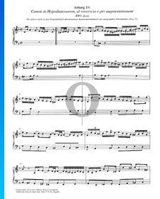 Canon in Hypodiatessaron, BWV deest