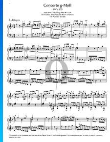 Concerto en Sol mineur, BWV 975: 1. Allegro