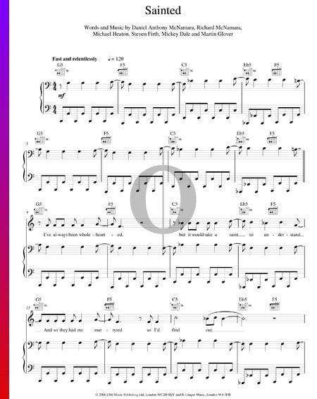 Sainted Musik-Noten