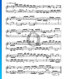Suite inglesa n.º 4 en fa mayor, BWV 809: 2. Alemanda