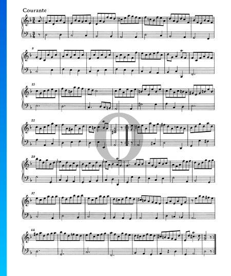 Suite D Minor, HWV 448: 3. Courante Sheet Music