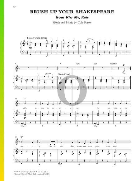 Brush Up Your Shakespeare Sheet Music