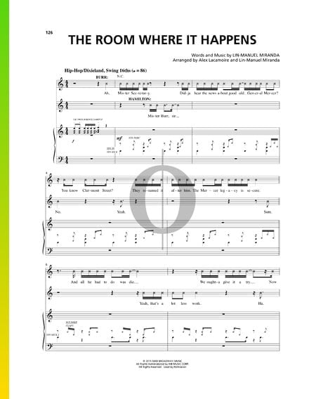 The Room Where It Happens Sheet Music