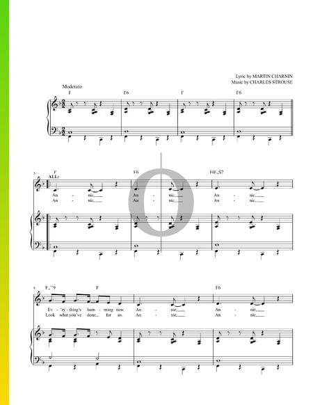 Annie Sheet Music