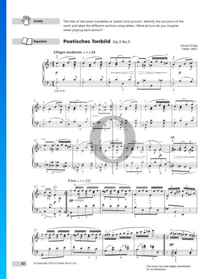 Allegro moderato (Poetic Tone-Pictures), Op. 3 No. 5 Partitura