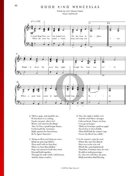 Good King Wenceslas Musik-Noten