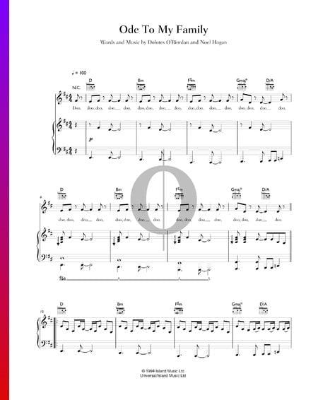 Ode To My Family Musik-Noten
