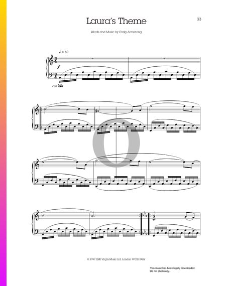 Laura's Theme Sheet Music