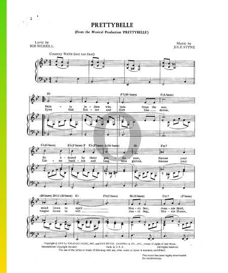 Prettybelle Musik-Noten