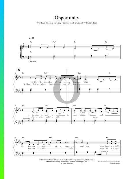 Opportunity Sheet Music
