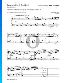 Sinfonía n.º 101 en re mayor, Hob.I:101 (El Reloj): 2. Andante