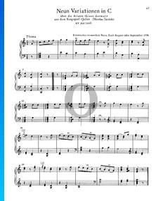 9 Variations en Do Majeur, KV 264 (315d)
