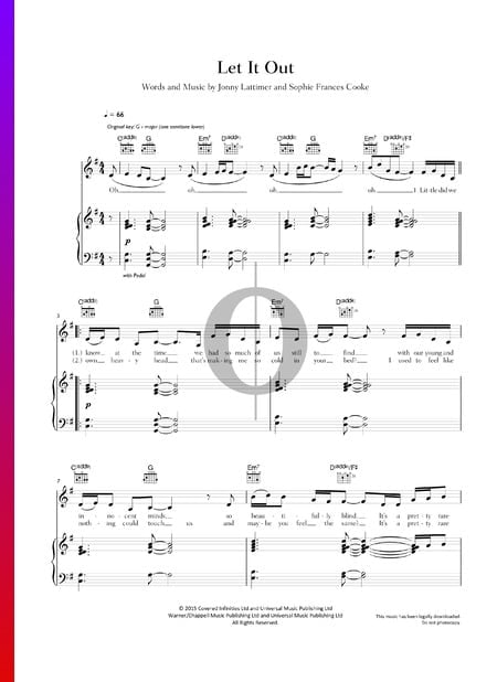 Let It Out Sheet Music