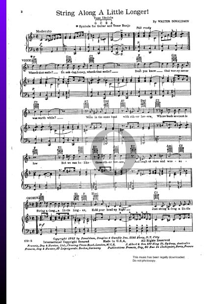 String Along A Little Longer Sheet Music