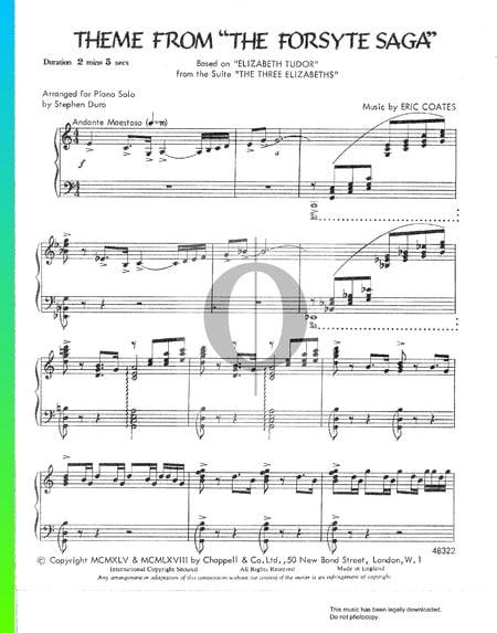 The Forsyte Saga Theme Musik-Noten