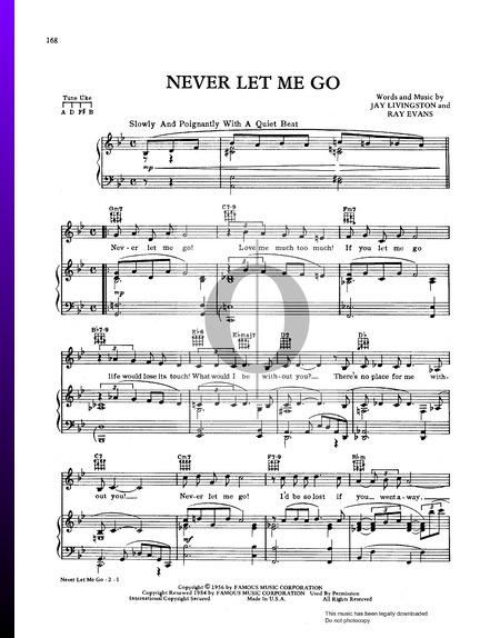 Never Let Me Go Musik-Noten