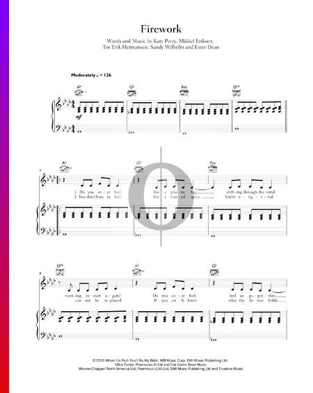 Firework Sheet Music