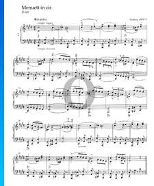 Minuet en Do dièse mineur, D 600