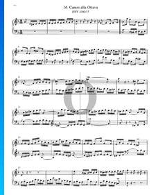 Canon alla Ottava, BWV 1080/15