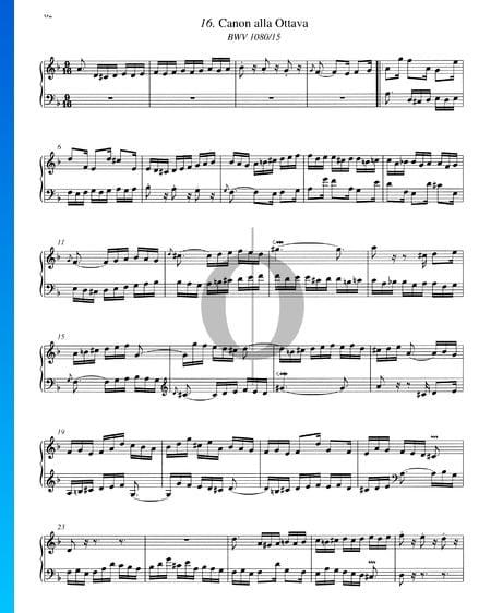 Canon alla Ottava, BWV 1080/15 Sheet Music