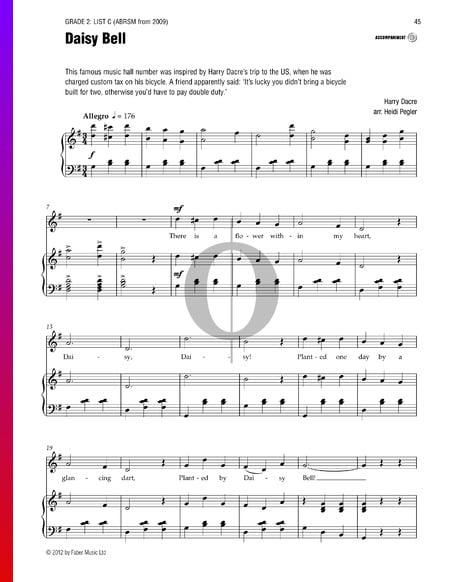 Daisy Bell Sheet Music