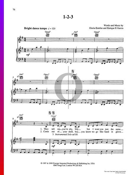 1-2-3 Musik-Noten
