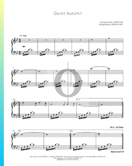 Quiet Autumn Sheet Music
