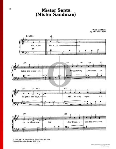 Mister Santa (Mister Sandman) Musik-Noten