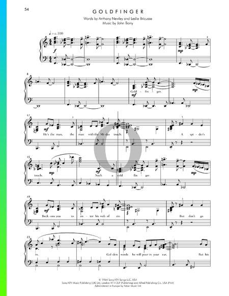 Goldfinger Musik-Noten